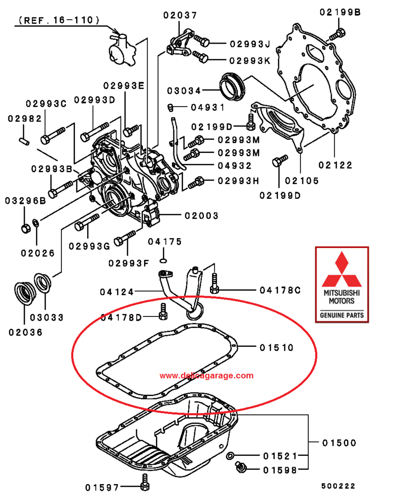 Mitsubishi Delica L400 Space Gear Parts Accessories Shop 96 Wiring Diagram 4m40 Sump Gasket
